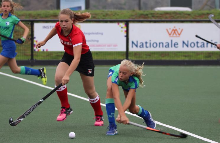 C1 meiden HC Rijnvliet Utrecht kampioen